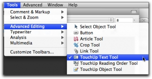 TouchUp Text Tool