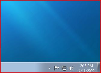 Windows 7 Notification Area