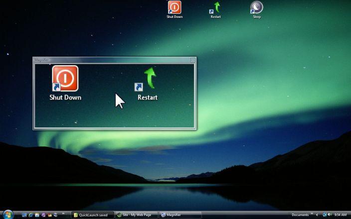 Vista Magnifier in use on desktop