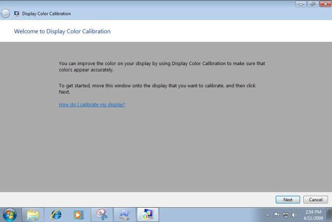 Color Calibration in Windows 7