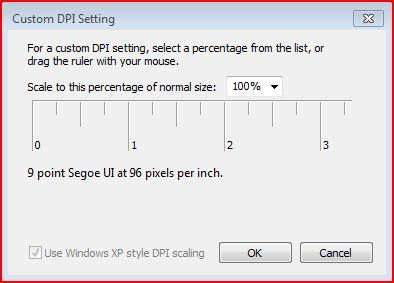 Custom DPI Setting in Windows 7
