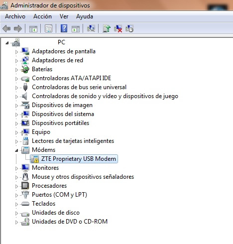 Installation of a ZTE MF190 USB 3G ADSL modem on windows 7