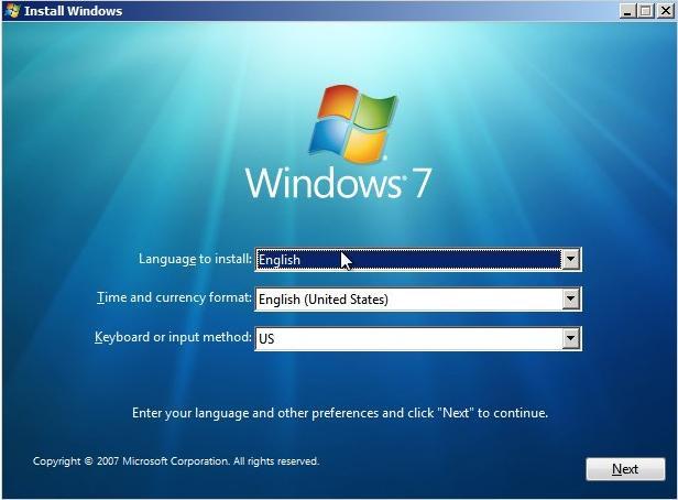 Windows 7 Installation