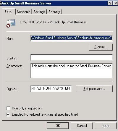 SBS Backup