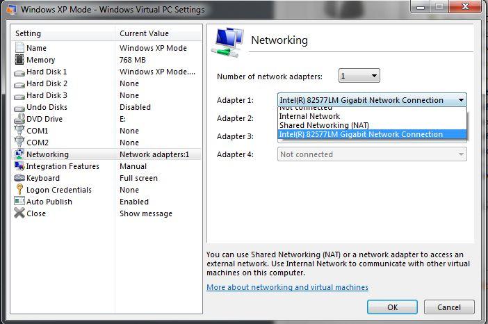 VM Network Settings