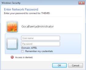 Windows Security Pop up error