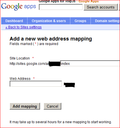 Add web address mapping