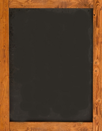 The background image - a traditional wood-framed chalk board.
