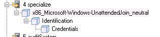 Credentials add PC to domain.