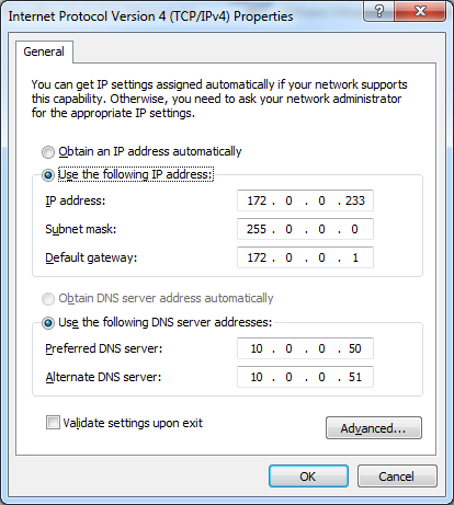 Windows 7 network settings that works