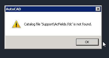 catalog error