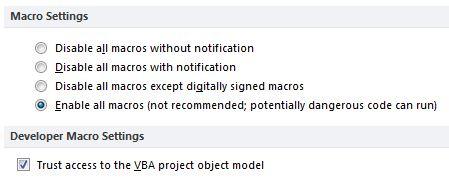 Marco settings - Get same error