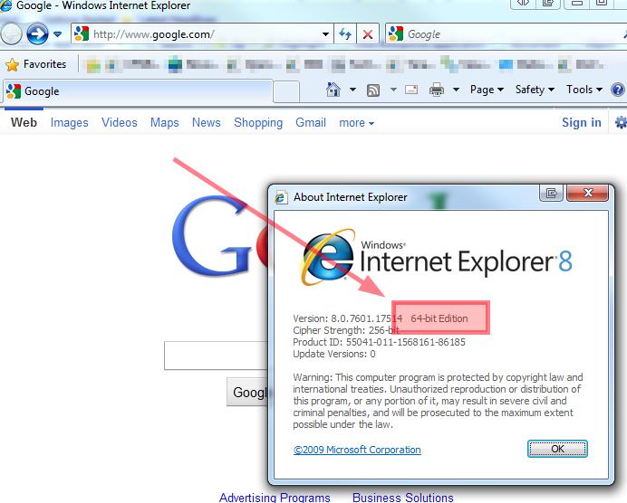 64-bit IE from InternetExplorer.Application