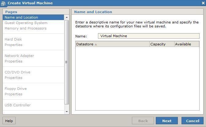 Datastore Screen Shot