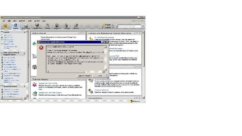 Backup Exec 2010 error when launching