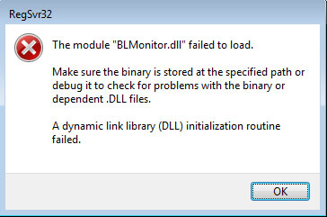 dll register error