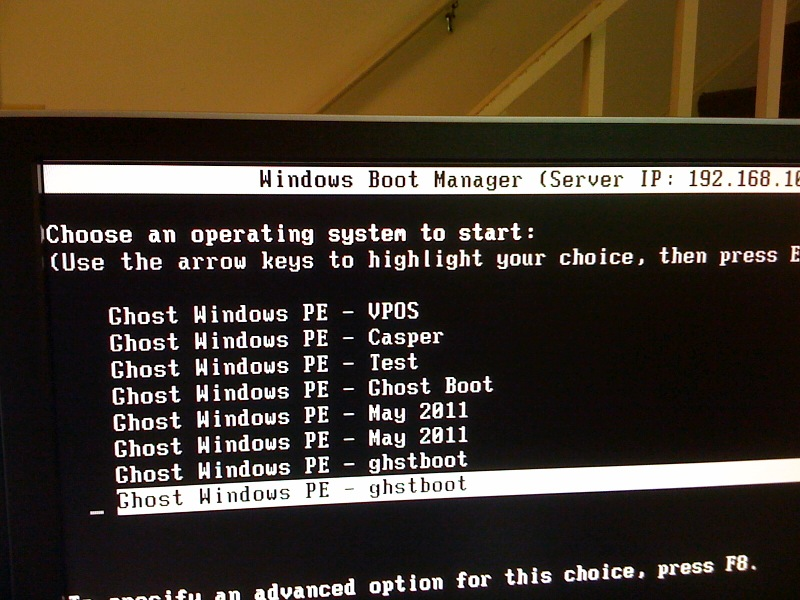 Windows Boot Manager Entries