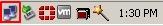 Windows XP taskbar LAN icon