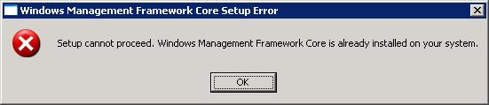 Powershel instal error