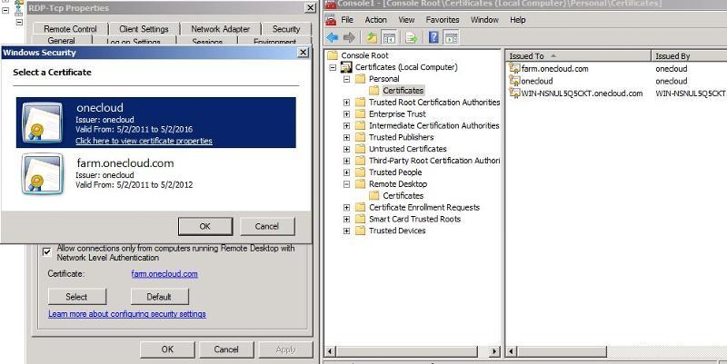 RDSH SSL Certs Install