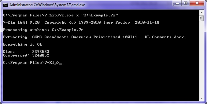 Command Line Running as Administrator