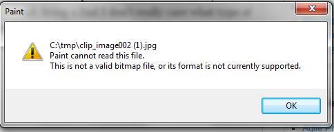 Image File error