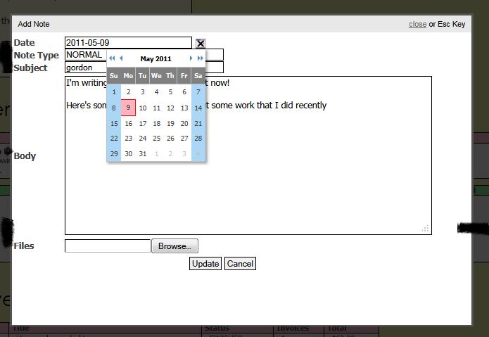 "Screenshot of my existing ""customer portal"""