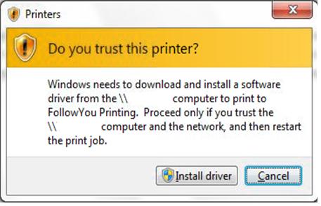 Printer dialog box