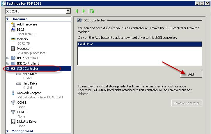 Attach USB disk to a Hyper-V 2