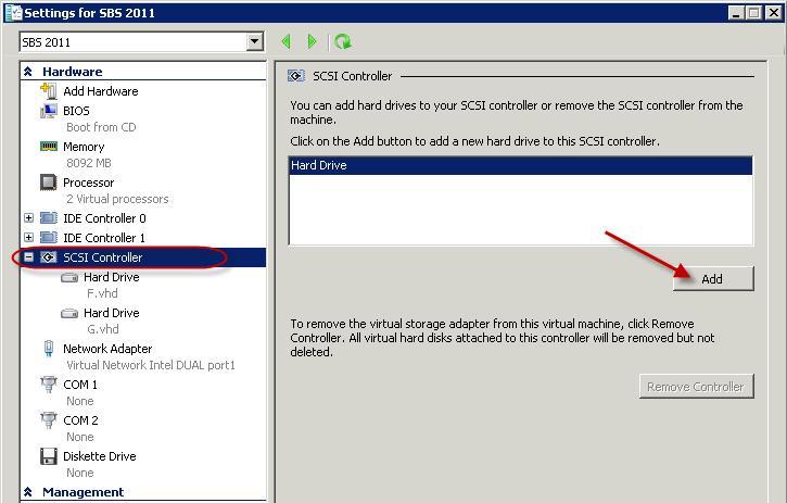 Attach USB disk to a Hyper-V 2