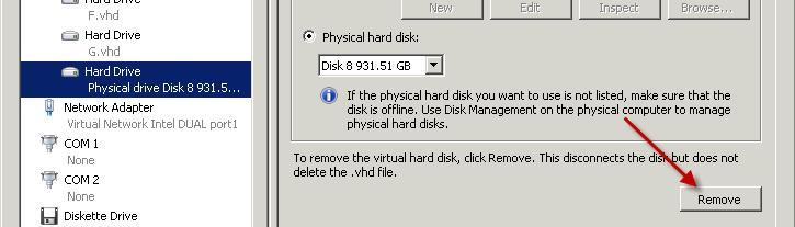 Attach USB disk to a Hyper-V 5