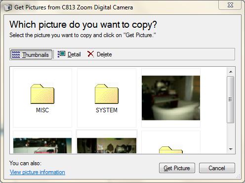 WIA common dialog box single file