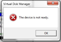 The device not ready error box