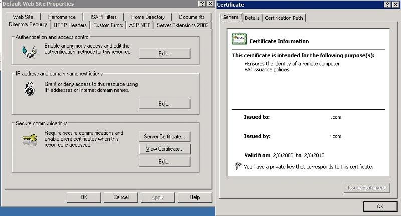 Cert Screenshot