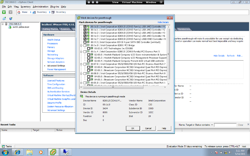 screen shot: trying to add usb external drive