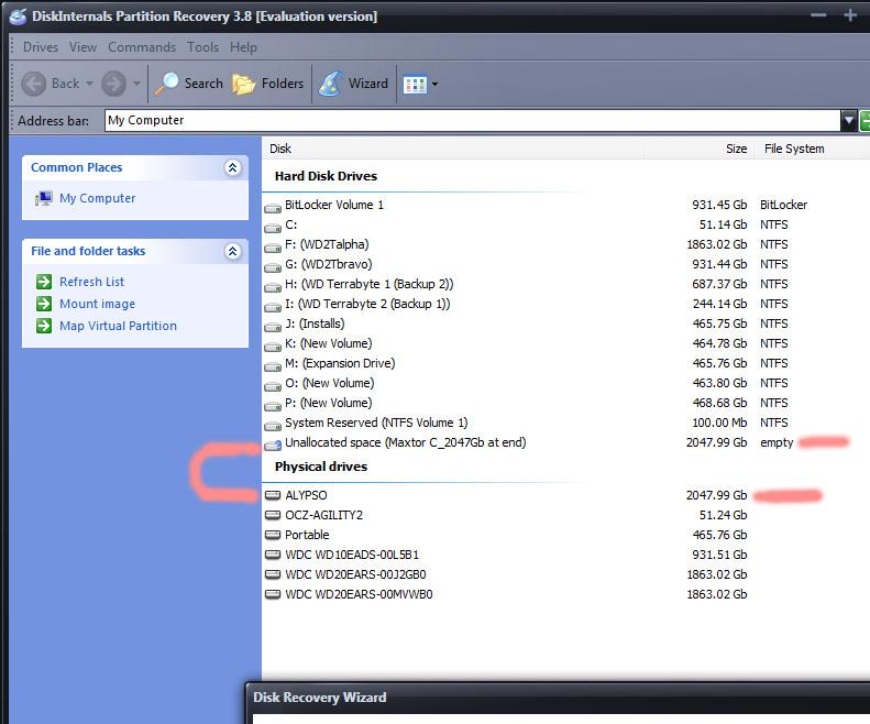 DiskInternals recovery screen 2