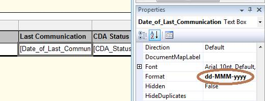 Date Format in SSRS