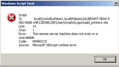 SOLUTION] Error message VBS and printer driver host 32bit