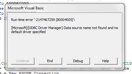 ODBC Error