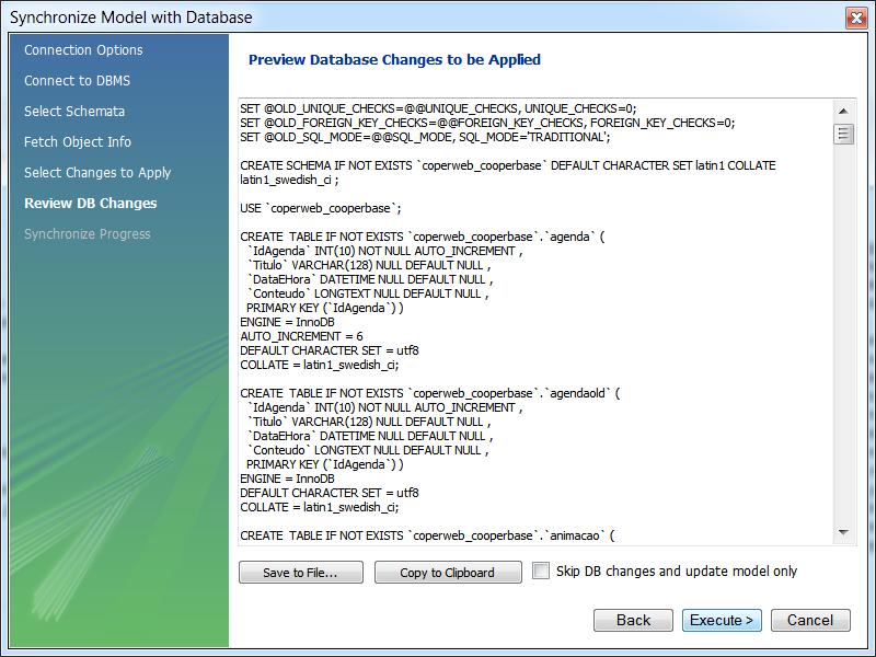 MySQL Workbench - Guidance on how to synchronize 2 databases