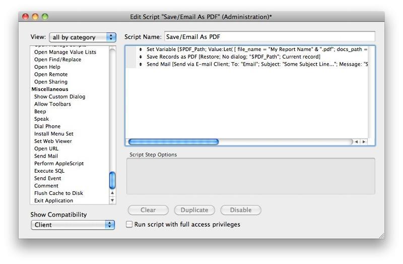 Send PDF script