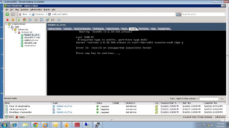 Xen VM doesn't boots up after conversion