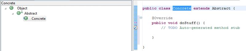 Java Hierarchy View