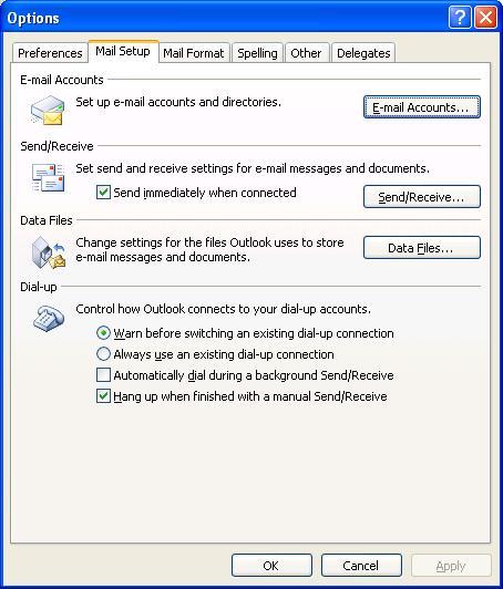 Data File settings