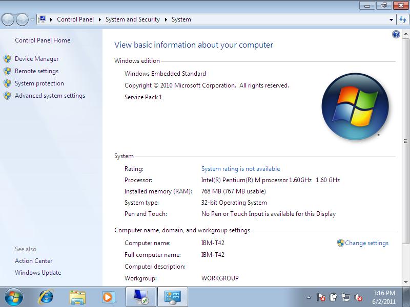 Windows 7 Thin PC