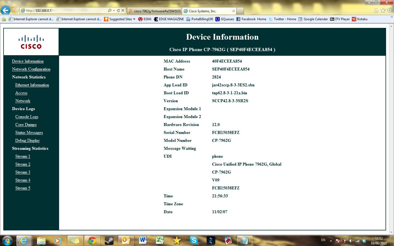 cisco 7962g firmware