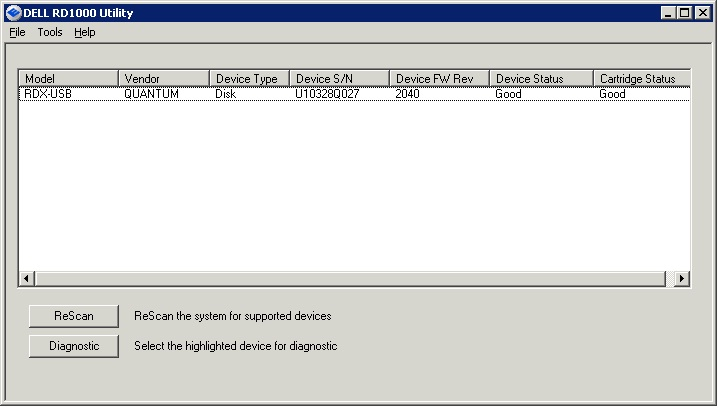 DELL RD1000 BACKUP EXEC DRIVERS FOR PC