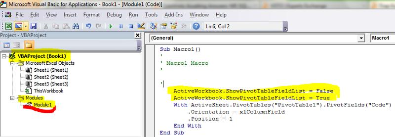 generated macro code