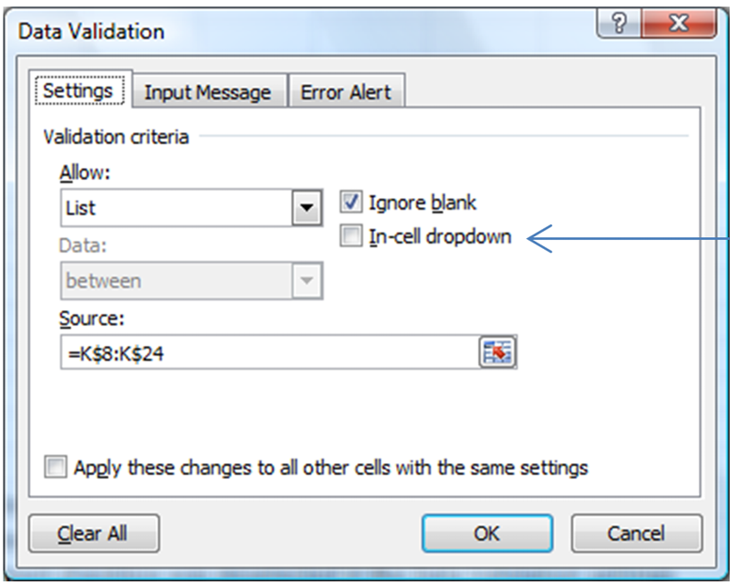 De-select the in-cell dropdown to eliminate the double-dropdown view