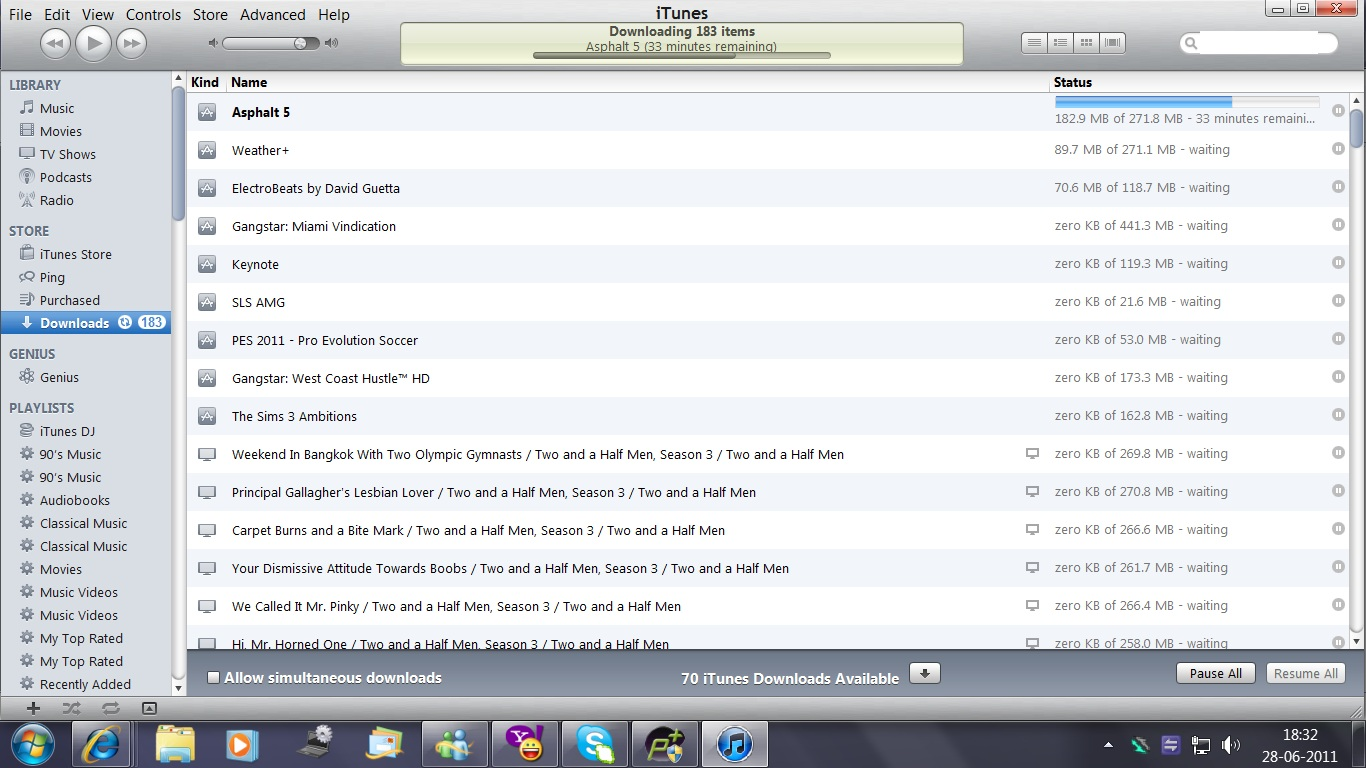 how to clear download list in itunes